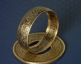 COIN RING JEWELRY - (( British India One Pice Coin ))  - (Choose The Ring Size You Want)