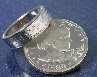 Coin Ring Jewelry Sacagawea Dollar Reverse By Thecoinsmith
