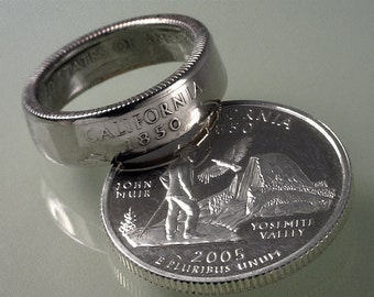 Coin Rings ---- (SOMETHING SPECIAL) -----  State Quarters 90% Silver Proof  ------  (Select State & Ring Size You Want)