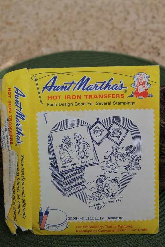 Vintage Aunt Martha's Hot Iron Transfers - 3598 Hillbilly Romance