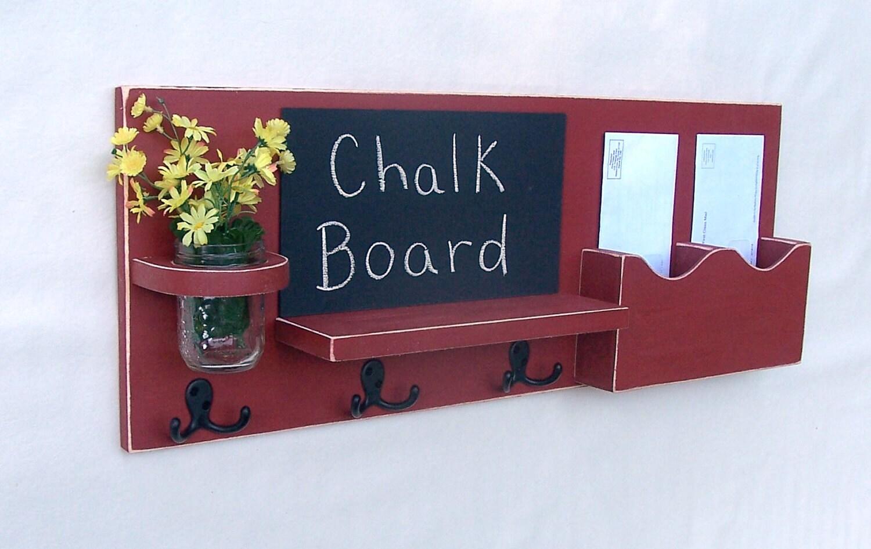 Mail Organizer Mail And Key Holder Chalkboard By Legacystudio