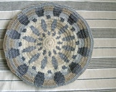 Adult Size Crocheted Beret Monochrome Earth