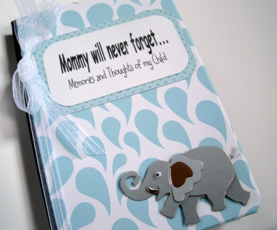 New Mother's Keepsake Journal Memories and Thoughts of My Child  Elephant Journal FREE Personalization