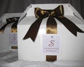 Swirl Monogram gable box welcome bag and favor