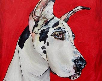 Great Dane Custom Dog Painting 24 x 30