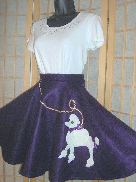 Vintage Handmade Girls Poodle Skirt