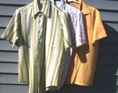 Lot of 3 Men's 50's 60's Shirts 42 44