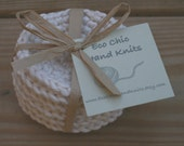 Organic Cotton Face Scrubbies (the ORIGINAL) in Almond