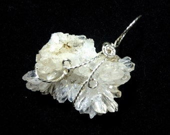 Quartz Crystal Cluster in Sterling Silver