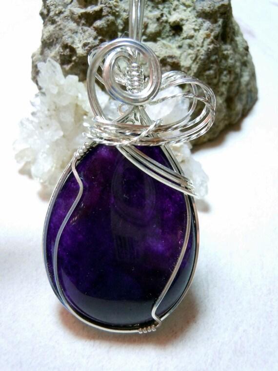 Purple Tears - Brazilian Amethyst Teardrop Necklace and Earring Set in Sterling Silver