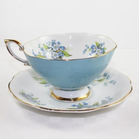 Royal Standard Blue Floral English Teacup