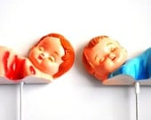 Sleeping Baby Cake Decoration Girl AND Boy Cake Toppers