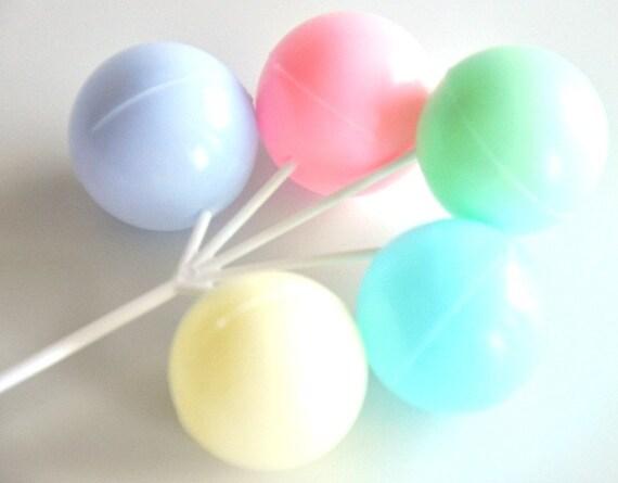 Balloon Cake Decorations PASTEL Set of 2