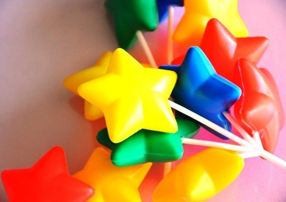 Set of 3 Star Clusters Cake Decoration