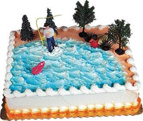 how to make a lake on a cake