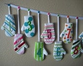 Reserved listing for Laura S. BakerGirl Mitten Advent Calendar