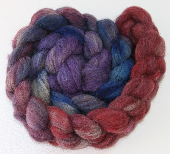 """Grey Shetland wool combed top hand dyed """"The Magician's Nephew"""""""