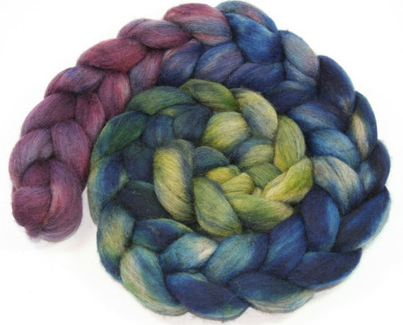 Riversdale - brown merino wool hand dyed spinning combed top - 4 oz