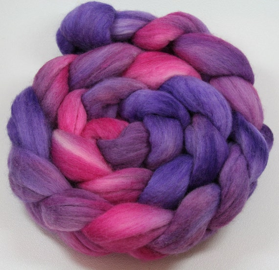 Maleficent - hand dyed Polwarth wool combed top - 4 oz