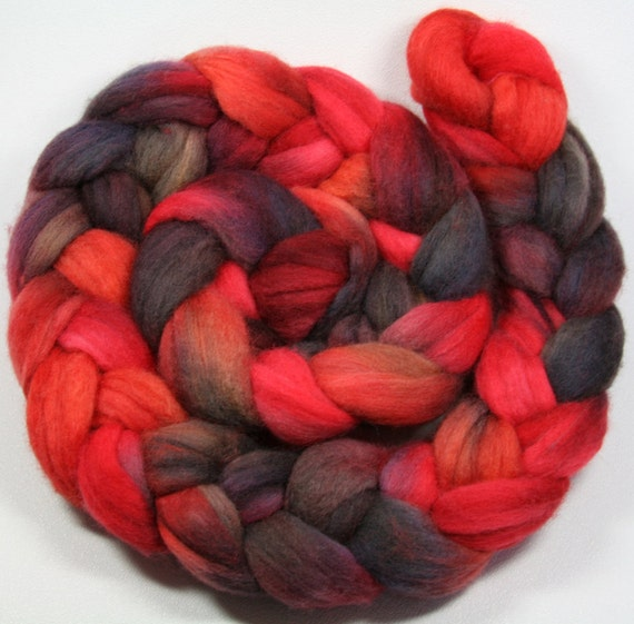 Collinwood - hand dyed Polwarth wool combed top - 4 oz