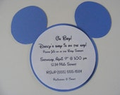 Mickey Mouse Invitations Mickey Shower Invitation Mickey Baby Blue Shower Invitations Mickey Birthday Invitations Boy Shower Invitations