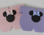 Minnie Mouse Party Favor Minnie Onesie Favor Shower Decoration Centerpiece Table Decor Minnie Mouse Inspired Baby Shower Pink Purple