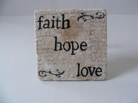 Faith hope love trivet home decor 6 x 6 by for Faith decor