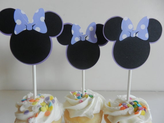 Minnie Inspired Cupcake Toppers - Minie Mouse Birthday Party
