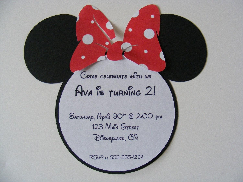 minnie mouse happy birthday party invitations envelopes