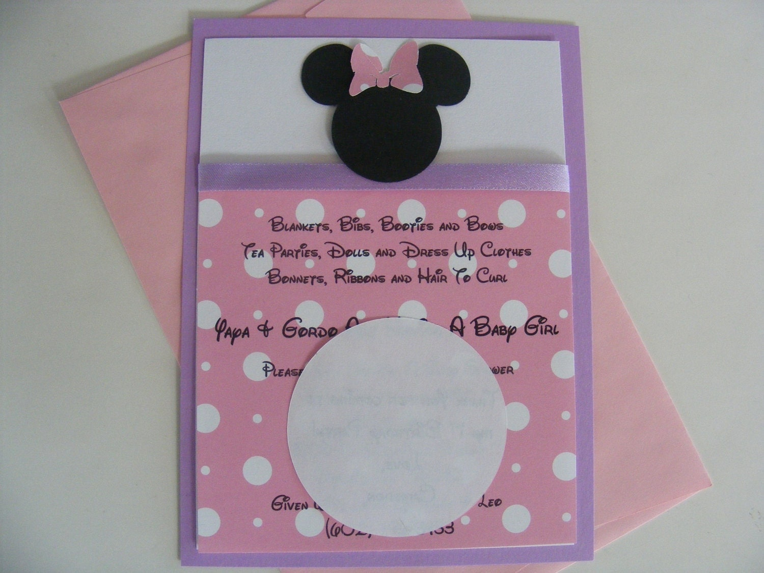 minnie mouse invitations baby shower custom listing for