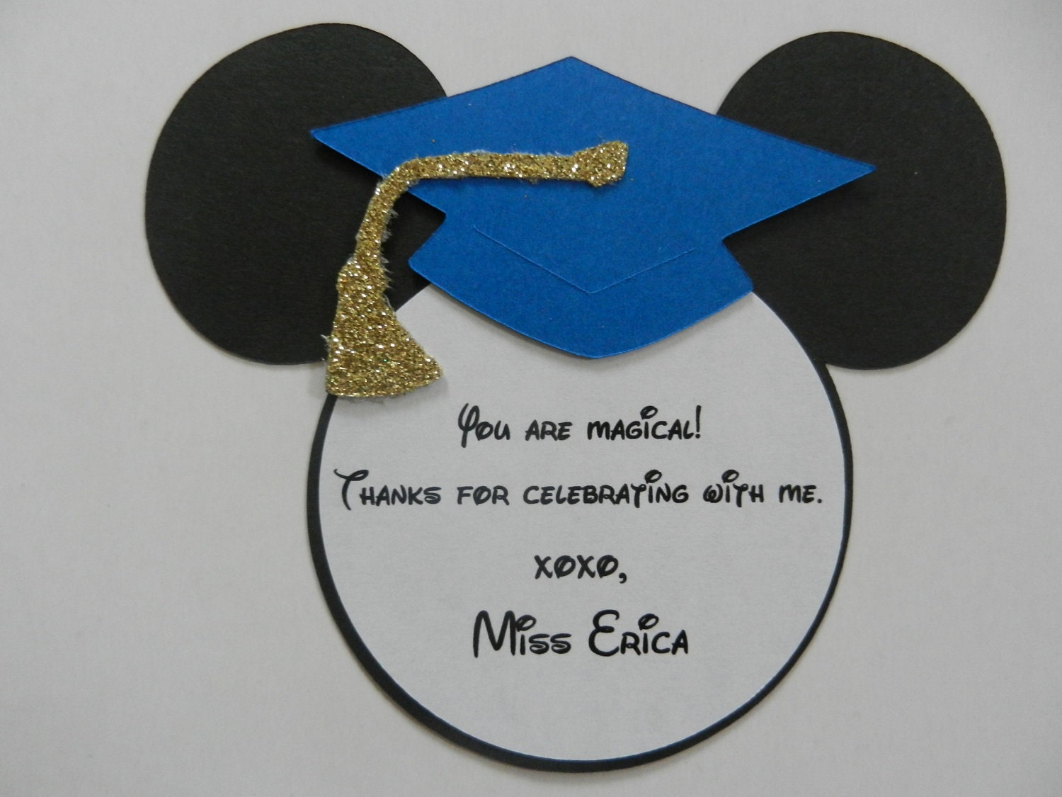 Mickey Mouse Inspired Graduation Thank You Note Tags Party – Graduation Thank You Letter