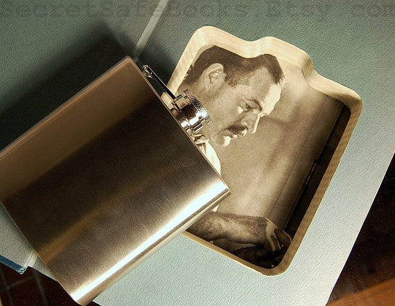 Hollow Book Flask Safe Ernest Hemingway a Life Story (Flask Included)