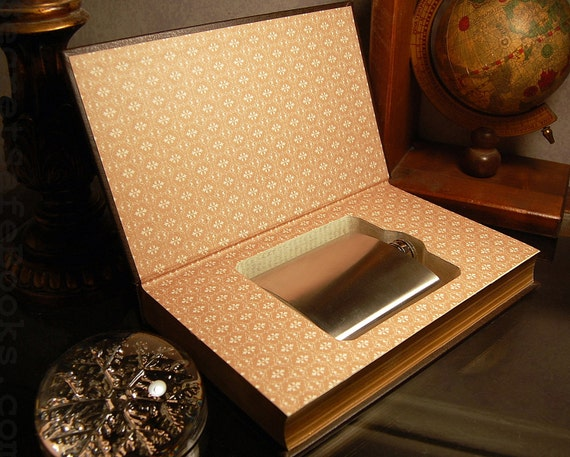 Hollow Book Safe & Flask - The Odyssey (Flask Included) --SHIPS MARCH 2nd--