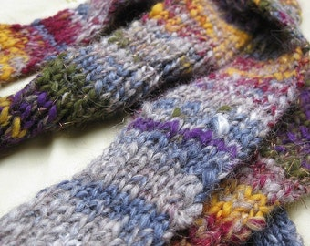CLEARANCE World Currency - Handspun, handknit scarf