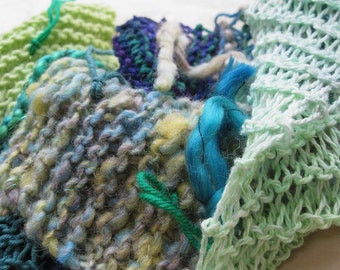CLEARANCE Fashion Green - Handspun, handknit scarf