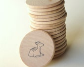 Wooden Hand Stamped Memory Game (Nature Theme)