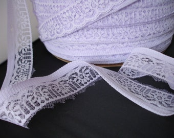 "Large Roll Lilac Lace Orchid Purple Vintage Wedding Lace  1.5"" wide"