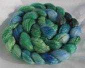 Superwash merino tencel shades of blue and green 1039