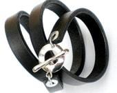 Chic Triple Wrap Leather Bracelet...  Vogue Leather Wrap Cuff Design