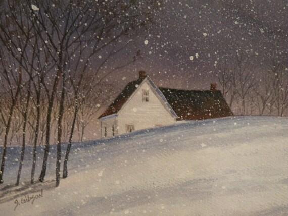 "Farm Painting ""Christmas day at Grandma's"