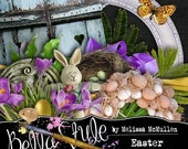 Easter Dreams - Digital Scrapbooking Kit (digital papers and elements)