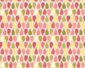 SALE, LAST Half YARD, Henry Glass, Tidbits, Pink Pears, 1/2 yard