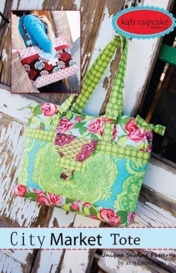 LAST ONE, City Market Tote Sewing Pattern