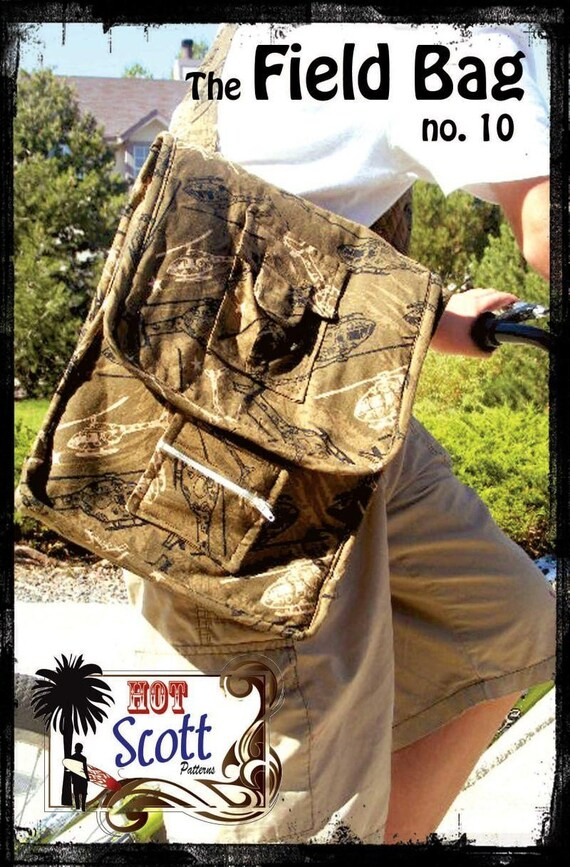 SALE, The Field Bag Sewing Pattern by Hot Scott Patterns