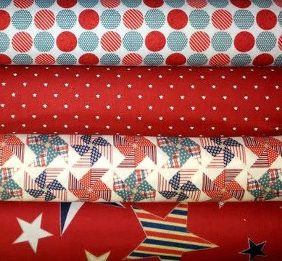 My Mind's Eye, Stars and Stripes, 1/2 yard bundle 3