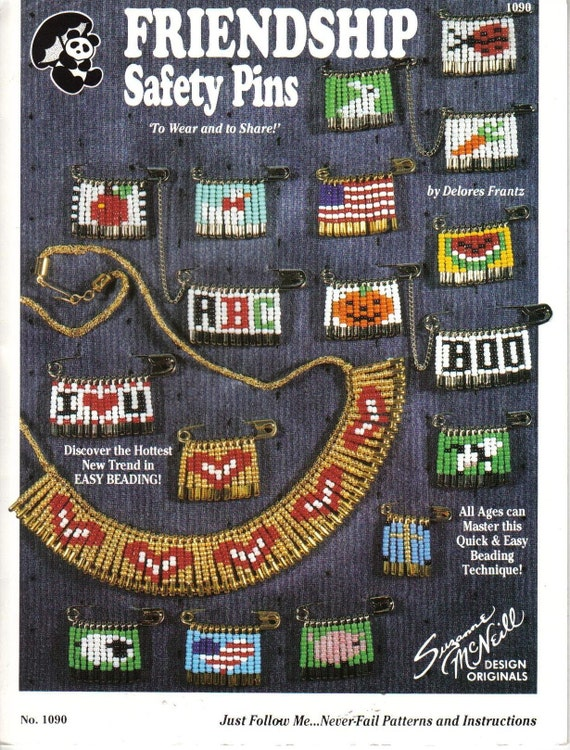 Friendship Beaded Safety Pins Pattern Book By