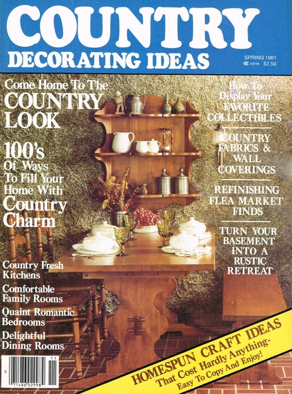items similar to country decorating ideas magazine spring 1981 on