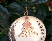 Hand Stamped Christmas Ornament with Family Name