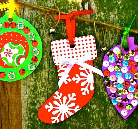 Items similar to Christmas Ornament Banner Craft Kit on Etsy