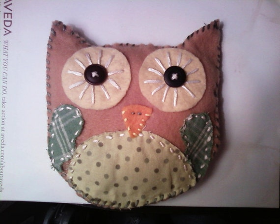 Baby Owl Pillow now at reduced Price